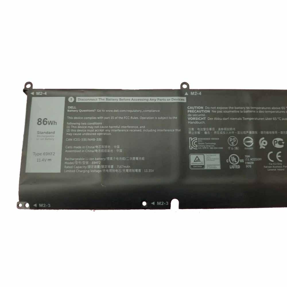 Dell XPS 15 9500 2020 P87F P45E P91F Akku