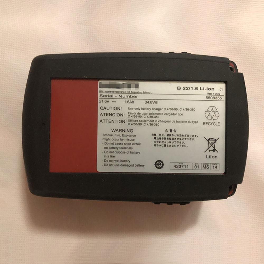 B22 1.6Ah/34.6WH 21.6V batterie
