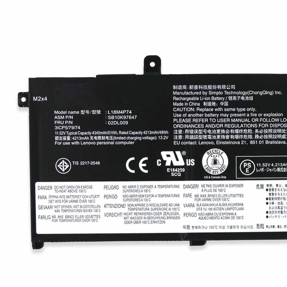 Lenovo ThinkPad T490 P43S T14 02DL007 02DL010 Akku