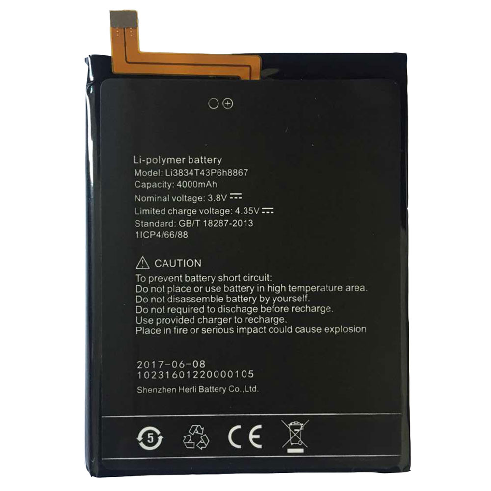 Li3834T43p6H8867 3.8V/4.35V